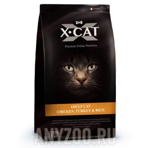 Купить X-Cat Adult Cat Икс-кет сухой корм для взрослых кошек курица с индейкой