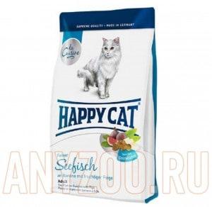 Купить Happy Cat La Cuisine Adult для кошек морская рыба, птица, картофель и сочный инжир