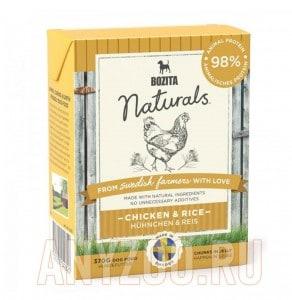 Купить Bozita Naturals Chicken&Rice консервы Порция сухого питания