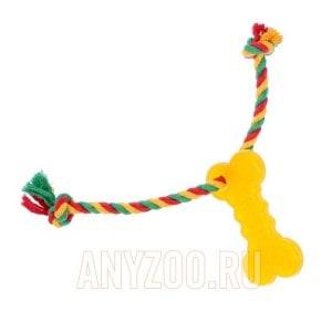 Доглайк игрушка для собак Кость малая с канатом