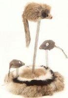 """фото Trixiе игрушка д/кошек """"Мышки на подставке на пружине"""" 30см"""