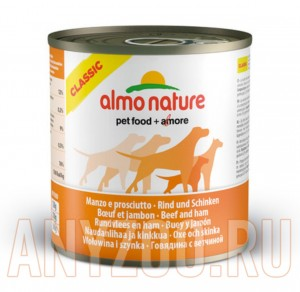 фото Almo Nature Classic консервы для собак с говядиной и ветчиной