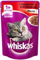 фото Whiskas - Вискас пауч для кошек желе с говядиной и ягненком
