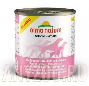 фото Almo Nature Classic консервы для собак с телятиной и ветчиной