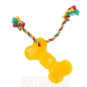 Доглайк игрушка для собак Кость большая с канатом