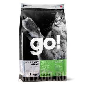 фото GO!Natural Holistic беззерновой сухой корм для котят и кошек с чувствительным пищеварением форель,лосось