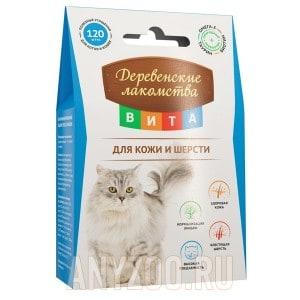 Деревенские лакомства Вита лакомство для взрослых кошек для кожи и шерсти