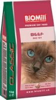 фото Biomill Cat Classic Beef Биомил сухой корм для кошек с Говядиной