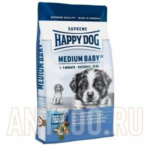 фото Happy Dog Supreme Medium Baby 29/16 - Хэппи Дог Медиум корм для щенков средних пород с 1-5месяцев