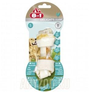 Купить 8 in 1 Dental Delights S Косточка для собак мелких и средних пород с куриным мясом и минералами, 11см