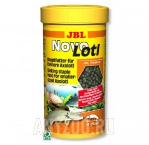 JBL NovoLotl Корм в форме тонущих гранул для молодых аксолотлей (10-25 см)