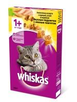 фото Whiskas Вискас сухой корм для взрослых кошек Подушечки нежный паштет курица/индейка