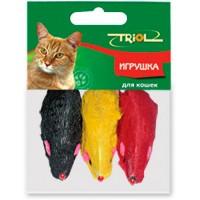 фото Triol  Триол Набор для кошек Мышь цветная *3шт(пакет) M003NC