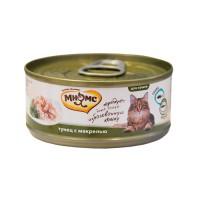 Мнямс консервы для кошек Тунец с макрелью в нежном желе