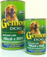 фото Gemon - Гемон консервы для собак кусочки в соусе Курица/рис 415гр