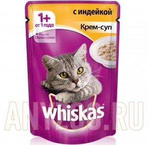 фото Whiskas Вискас Пауч Крем-суп с Индейкой для кошек