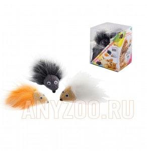 Дарэлл  Zoo-M Игрушка для кошек меховой дикобразик