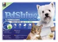 фото PetShine Очищающая варежка-салфетка для собак и кошек увлажняющая с алоэ вера