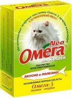 Омега neo мултивитаминное лакомство биотин, таурин для кошек