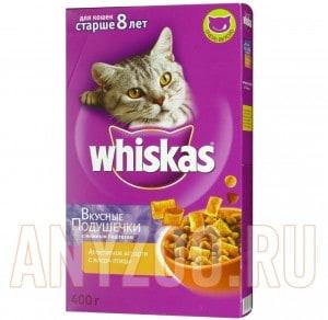 фото Whiskas Senior 8+ - Вискас сухой корм для пожилых кошек
