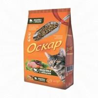Оскар Сухой корм для взрослых кошек с индейкой и овощами