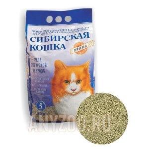 Сибирская Кошка Прима комкующийся наполнитель для кошек