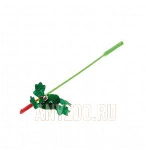 фото VIPet Дразнилка-удочка с игрушкой лягушка
