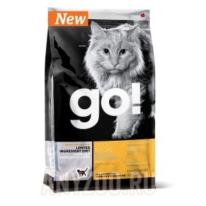 фото GO!Natural Holistic беззерновой сухой корм для котят и кошек с чувствительным  пищеварением утка