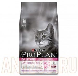 фото Pro Plan Delicate Про План Деликат сухой корм для кошек  с чувствительным пищеварением Индейка