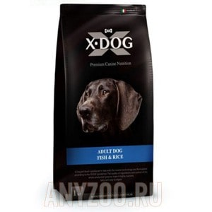 Купить X-Dog Adult Dog Икс-дог сухой корм для взрослых собак Белая рыба