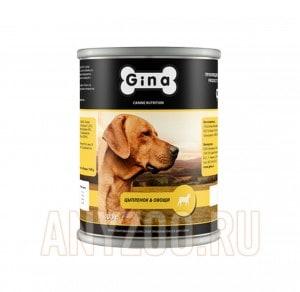 фото Gina  Джина консервы  для взрослых собак Цыпленок и овощи