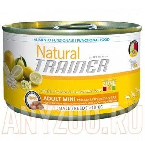 фото Trainer Natural Mini Adult Chicken, Rice&Aloe Vera Консервы для взрослых собак мелких пород Курица