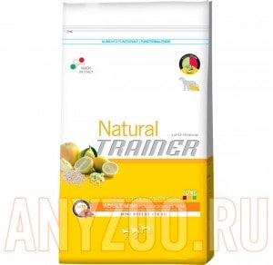 Купить Trainer Natural Adult Mini Polo Riso Aloe vera Сухой корм для собак мелких пород Курица/рис/Алоэ