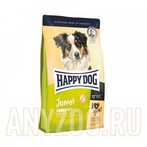 Купить Happy Dog Junior Lamb&Rice Хэппи Дог Юниор Сухой корм с ягненком и рисом для щенков всех пород от 7 месяцев