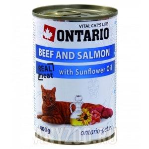 Ontario konzerva Beef, Salmon, Sunflower Oil