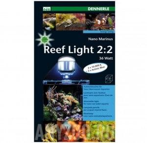 фото Dennerle Nano Marinus ReefLight 2:2 - Светильник для морских нано-аквариумов, 36 ватт Den5690