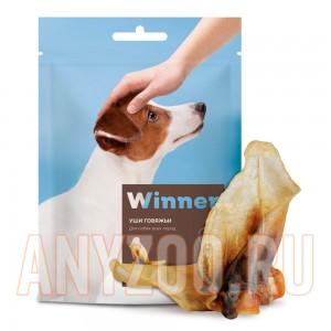 Мираторг Winner лакомство для собак Уши говяжьи охлажденные дой пак