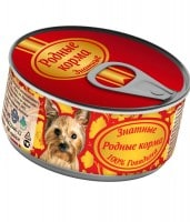 фото Родные корма Знатные Консервы для собак 100% Говядина