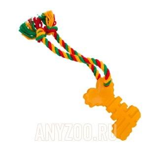 Доглайк игрушка для собак Ключ с канатом