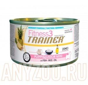 фото Trainer Fitness 3 Puppy&Junior mini Fish&Rice Консервы для щенков мелких пород Рыба/рис