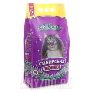 Сибирская Кошка Экстра комкующийся наполнитель для длинношерстных кошек