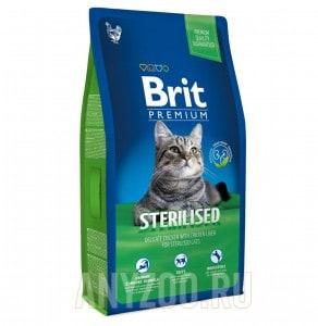 фото Brit Premium Cat Sterilized Брит сухой корм для кастрированных котов Курица с соусе из куриной печени