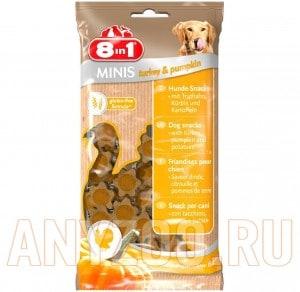 Купить 8 in 1 Minis Лакомство для собак с индейкой,тыквой и картофелем
