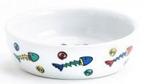 фото I.P.T.S. Миска для кошек фарфоровая с цветными рыбками 200мл