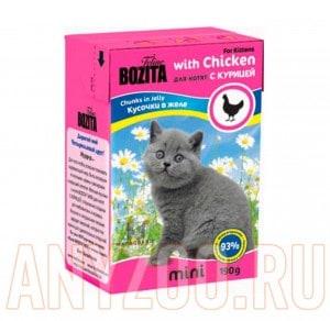 Купить Bozita Mini Tetra Recart Бозита Кусочки в желе для Котят с Курицей