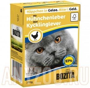Купить Bozita Tetra Pak кон.д/кошек Кусочки в желе Куриная печень