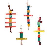фото Triol Триол Ирушка для птиц Деревянно-веревочная лестница