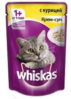фото Whiskas Вискас Пауч Крем-суп с Курицей для кошек