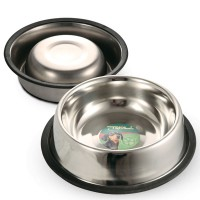 фото Triol Триол Миска металлическая на резинке для собак