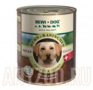 фото Bewi Dog Консервы для взрослых собак Курица и Кролик